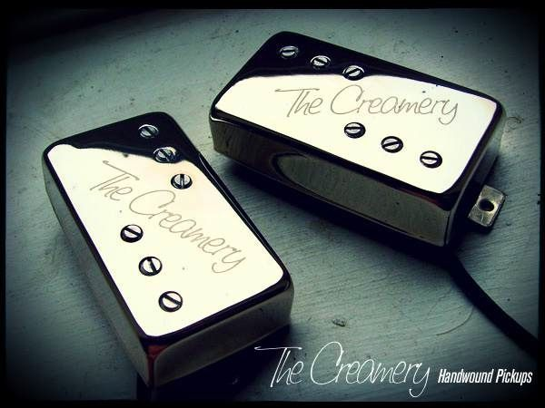 Creamery Custom Handwound Wide Range Tele Thinline Humbuckers - Baby '71 Standard Humbucker Size Replacement Pickups