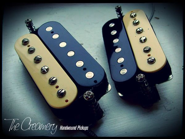 Creamery Custom Handwound Zebra Replacement Humbuckers Pickups
