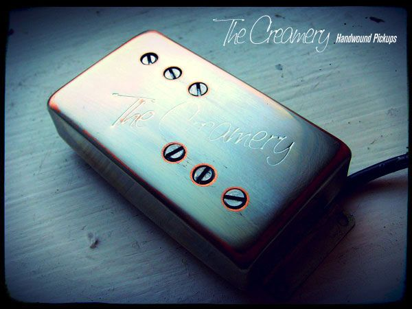 Creamery Custom Handwound Classic '71 Replacement Wide Range Tele Thinline Humbucker Pickup - Hand Aged Nickel Cover