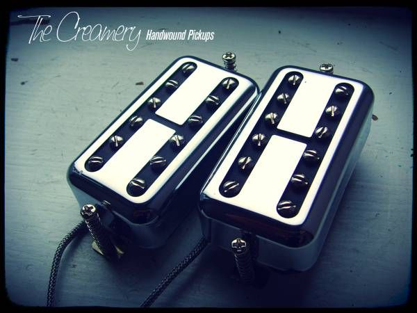 Creamery Custom Handwound Black Cat Humbucker Sized Replacement Filtertron Pickup Set